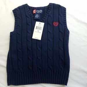 Chaps Baby Boy 24 Mos Knit Sweater Vest Navy Blue